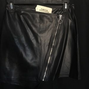 Forever 21 leather mini skirt